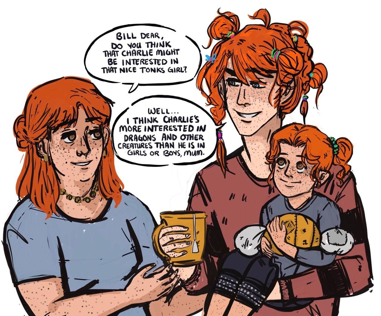 Bill Weasley Loves His Family Harry Potter Characters Harry Potter Comics Harry Potter Puns