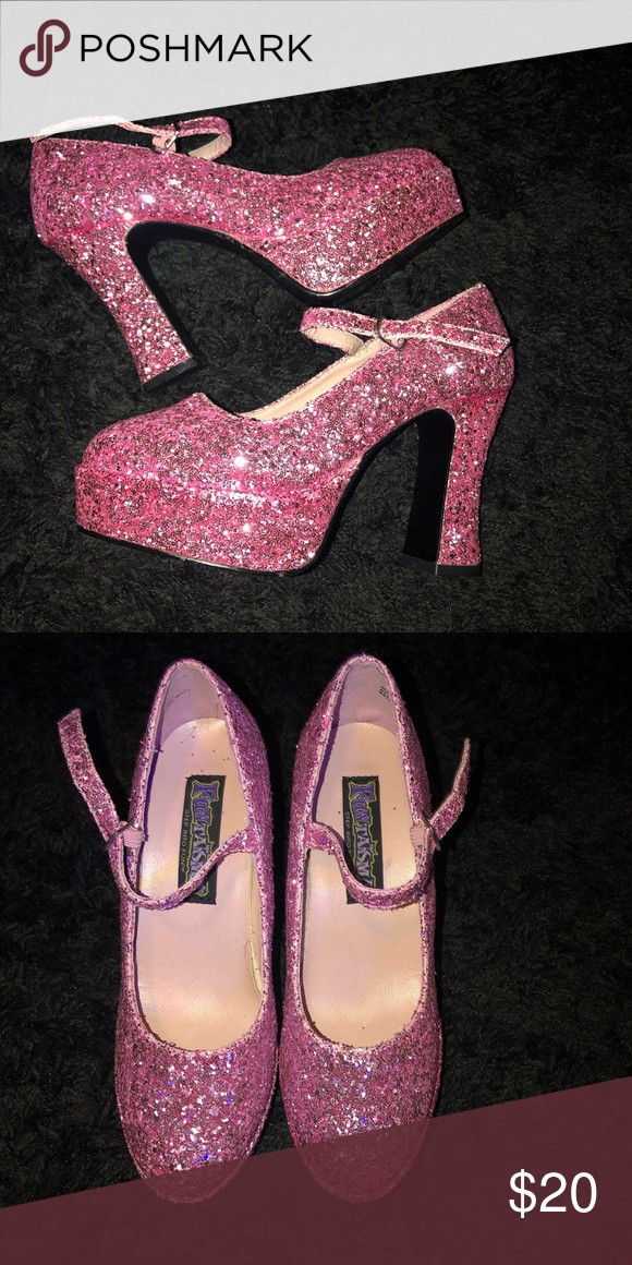 1d191fc74 Pink sparkly platforms Bought these for an event and didn t end up wearing  them