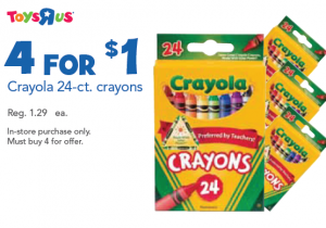 Toys R Us: 25 Cent Crayola CrayonDeal - starts July 28-Aug.3, 2013.