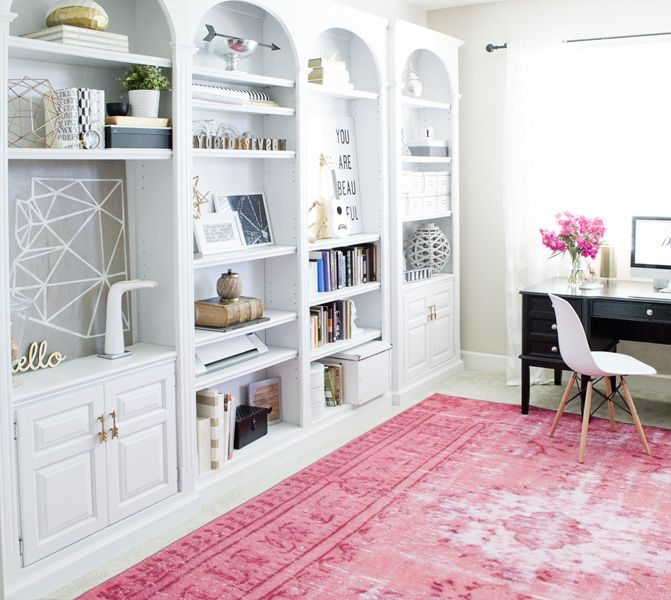 Home Office Pink Rug White Shelves That Is The Cutest Arizona Shaped Art Piece I Ve Seen Gotta Make One