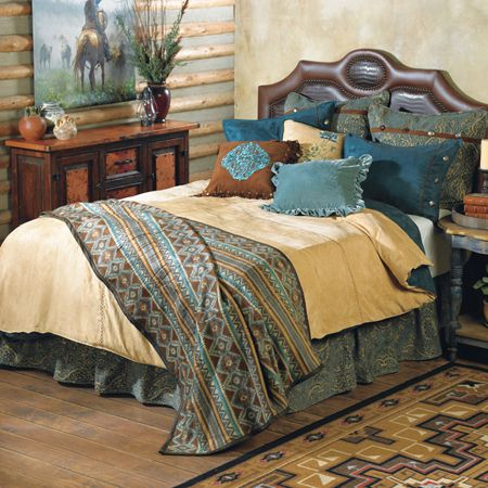 Rustic Bedding Collection Rustic Home Decor Pinterest Beautiful Turquoise And Queen Size