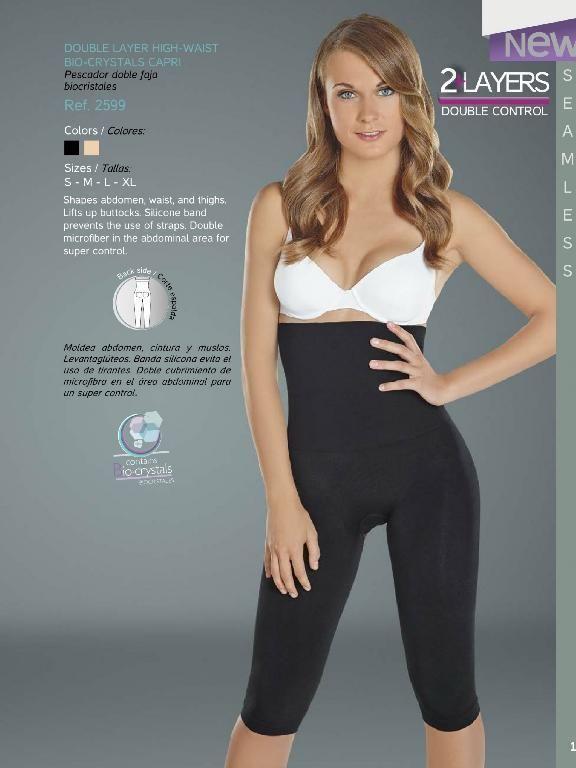 Seamless Shaper Bio-Crystals Leggins Body Shaper for Women Fajas Colombianas
