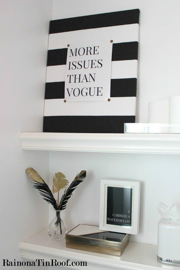 Diy And The City Striped Wall Art  To Make  Pinterest Amusing Small Bathroom Wall Art 2018