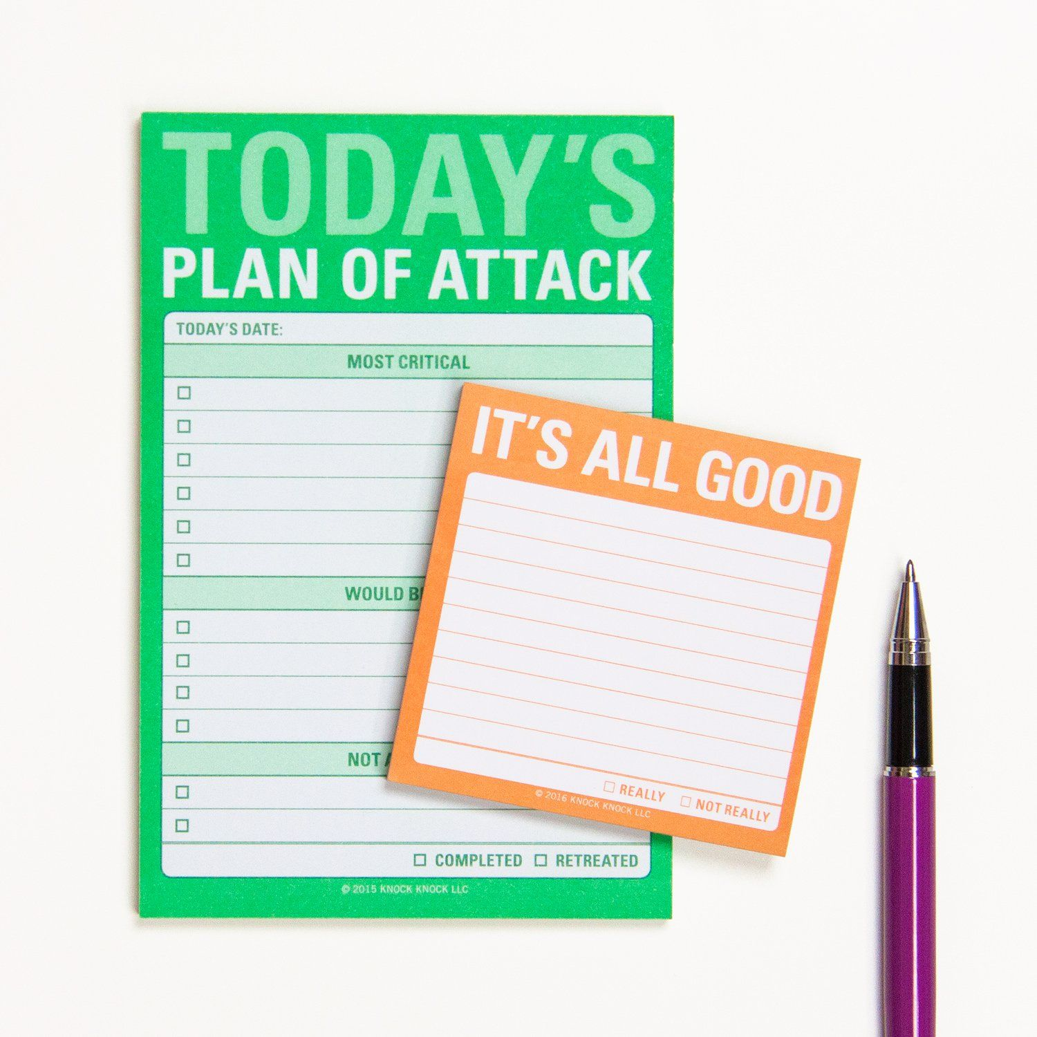 Todayus plan of attack great big sticky notes funny office knock