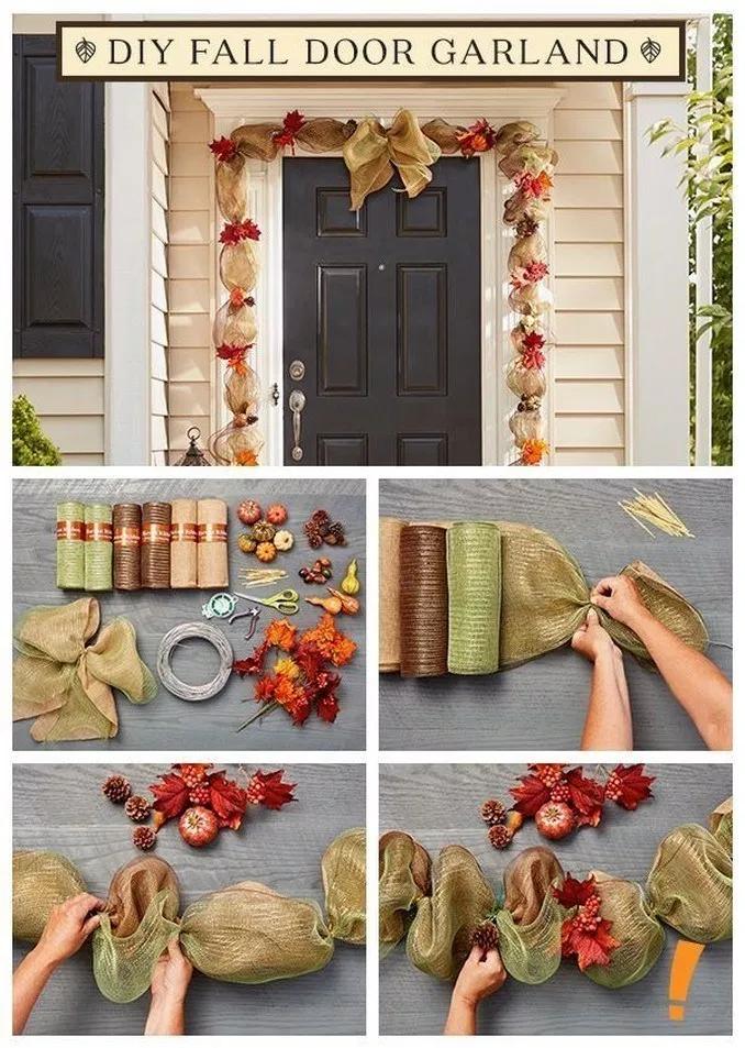 31 Cheap and Easy Fall Porch Decor Ideas #diyfalldecor