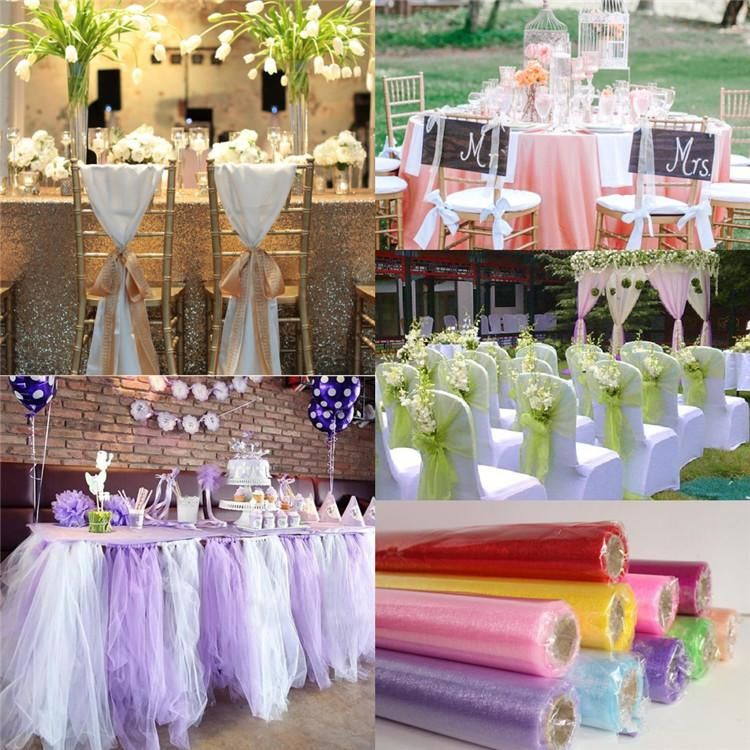 115m Romantic Organza Chairs Covers Wedding Decorations Table Sashes
