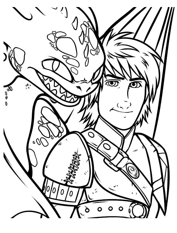 dragon coloring pages. Adventure of Hiccup and Toothless in How to Train Your Dragon Coloring Pages