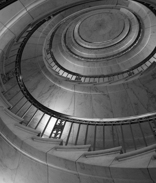 U.S. Supreme Court Spiral Staircase (Washington, DC). Washington  DcSpiralsSpiral StaircasesSupreme CourtEast CoastStairsLaw