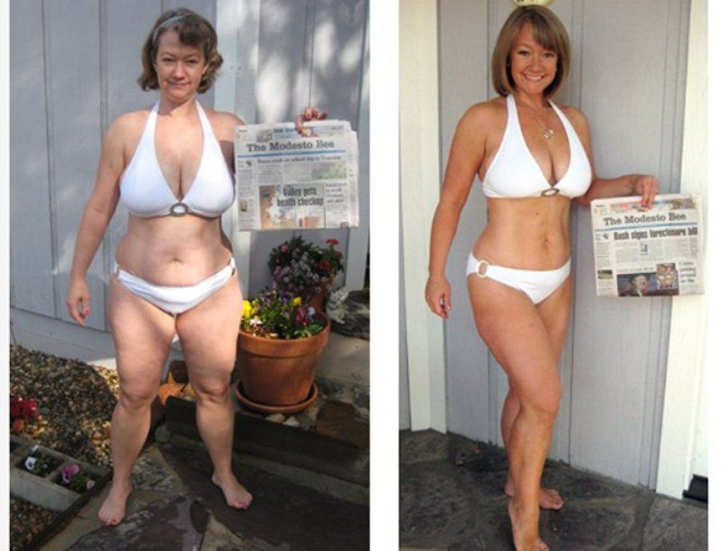 fat loss before and after female