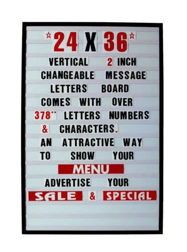 Changeable Letters Message Sign Menu Price Marquee Reader Board 24 X 36 Letters Messages Social Space