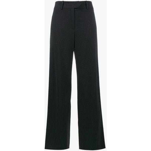 Glitter pinstripe wide-leg trousers - Blue Mira Mikati qVhgvf3