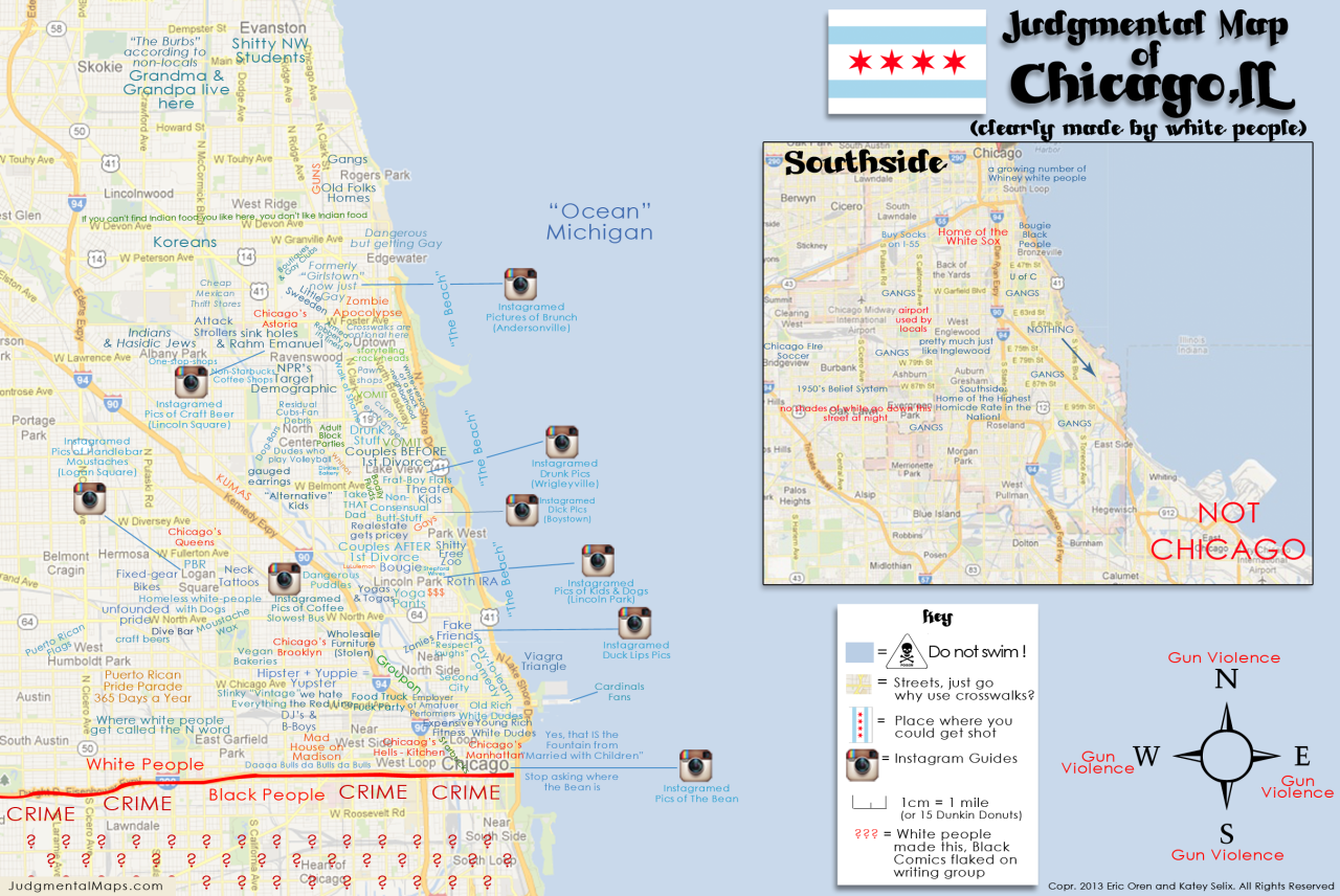Chicago ILby Eric Oren And Katey Selix Copr  Eric Oren And - Chicago map for new yorkers