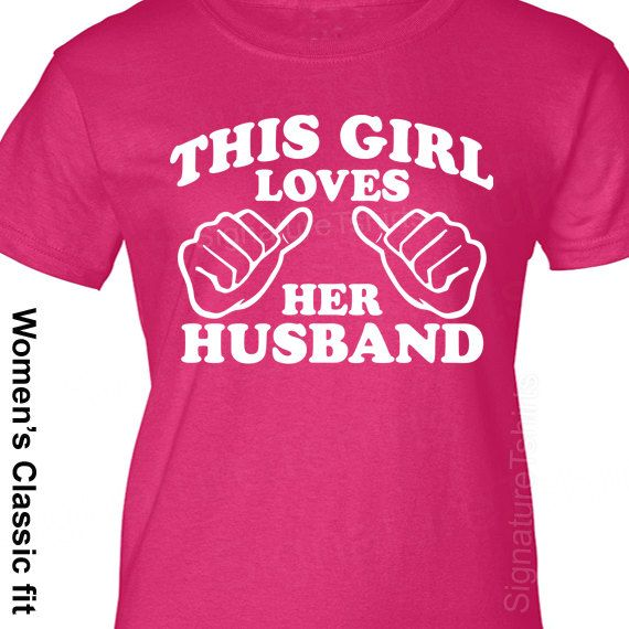 Anniversary Gift This Girl Loves Her Husband T Shirt Wedding Gift