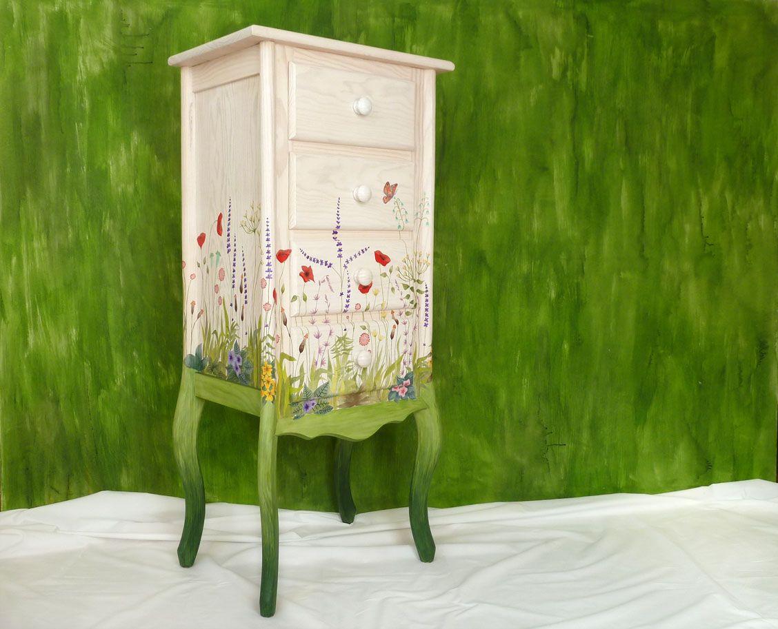 Muebles decorados a mano arte dise o mobiliario y - Muebles decorados a mano ...