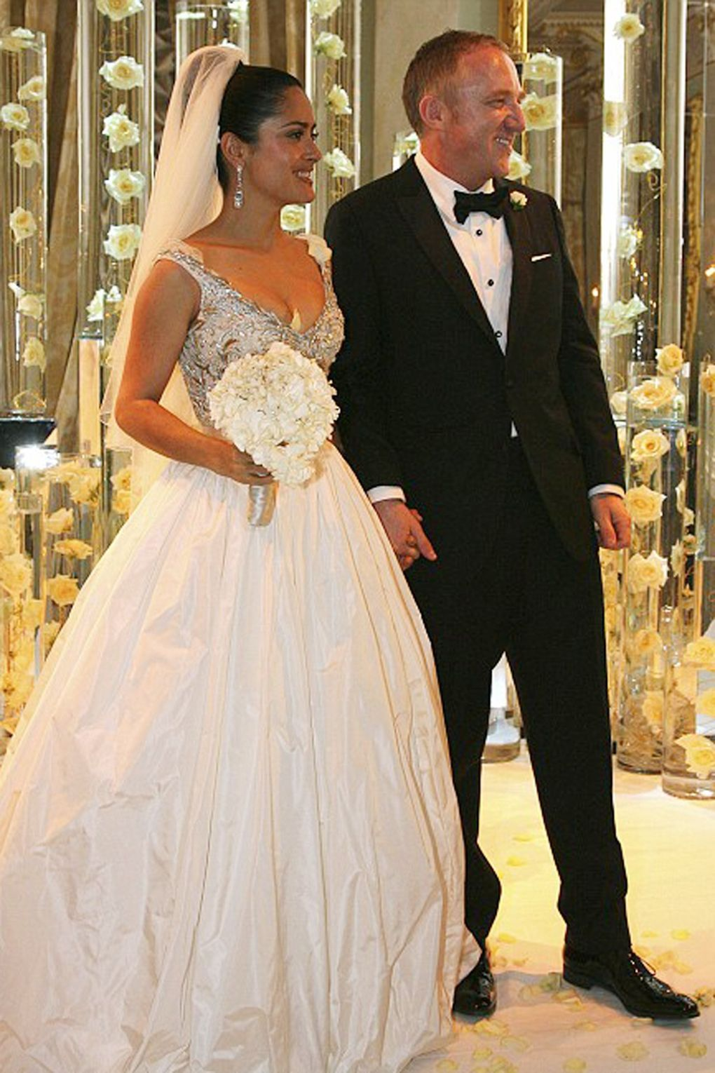 When Salma Hayek Walked Down The Aisle With Fran�oishenri Pinault In April 2009: Most Liked Wedding Dresses At Websimilar.org