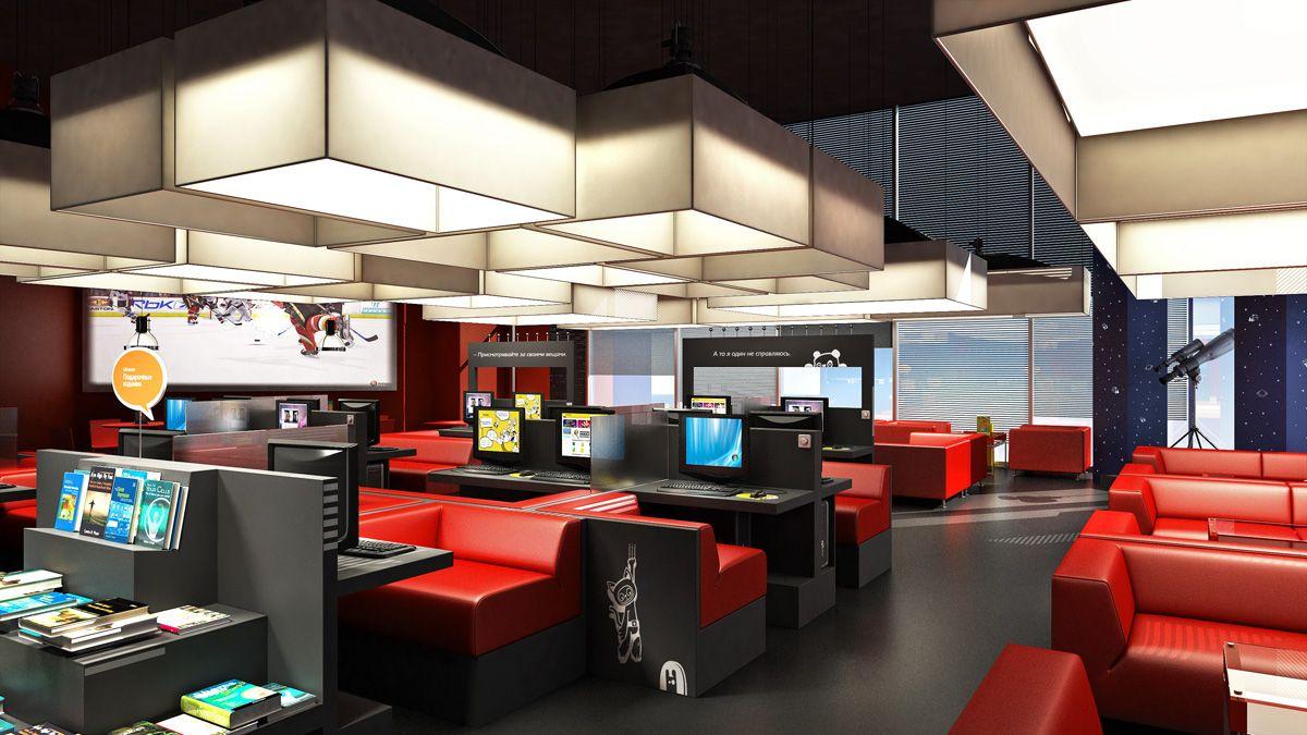 Internet Cafe Cafe Bar Lounge Design Cyber Cafe