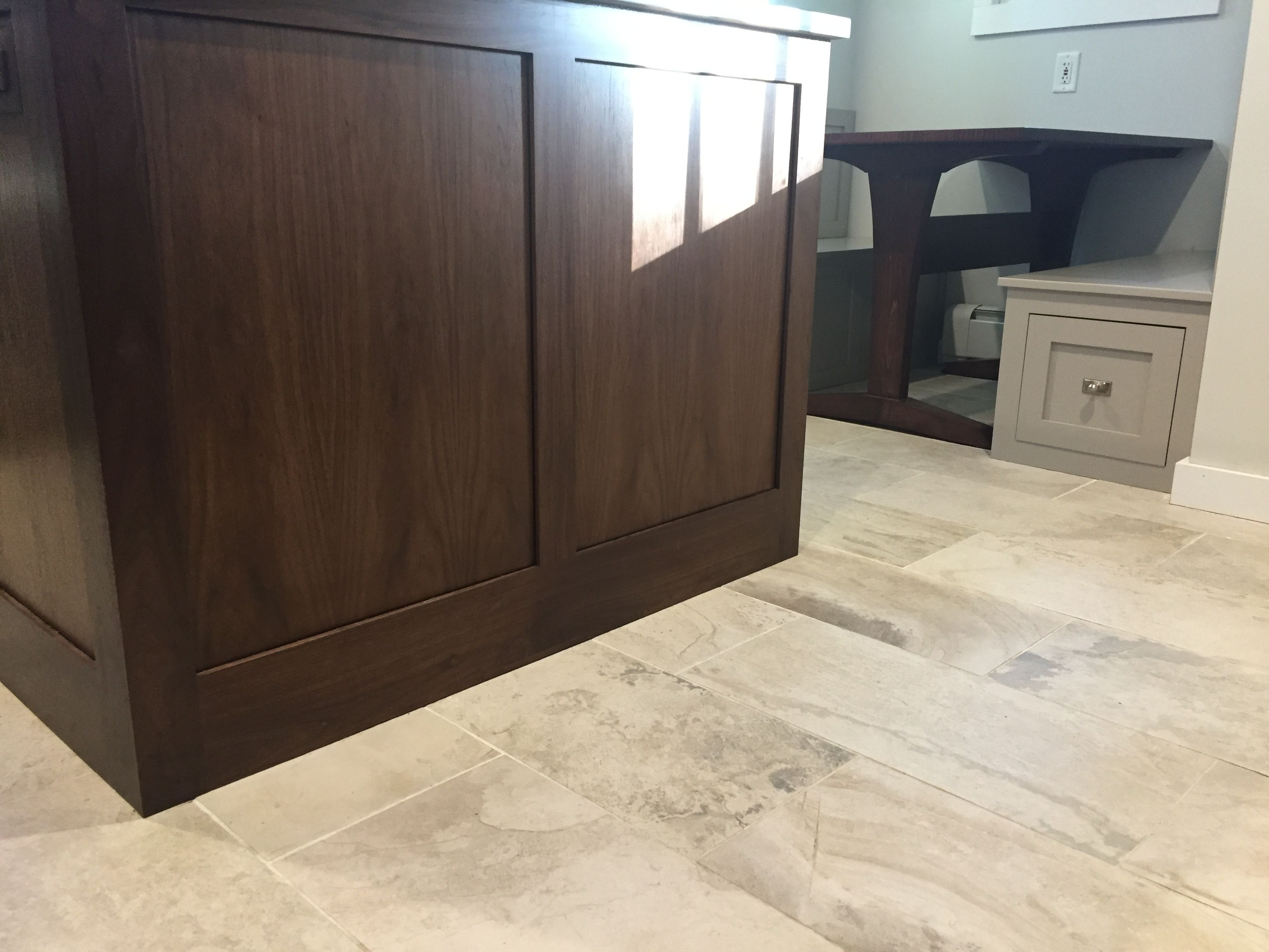 Porcelain Floor Kitchen Conestoga Kitchen Island Walnut Ivetta White Porcelain Floor Tile