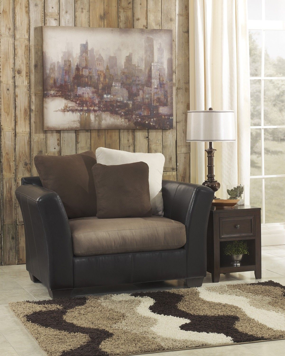Masoli Mocha Oversized Chair Underpriced Furniture In Norcross Ga Chair And A Half Furniture Living Room Sets