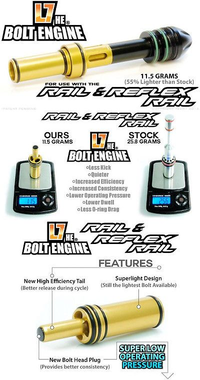 Bolts 47236: Techt L7 H.E. Bolt Engine For The Proto Reflex Rail -> BUY IT NOW ONLY: $79.99 on eBay!