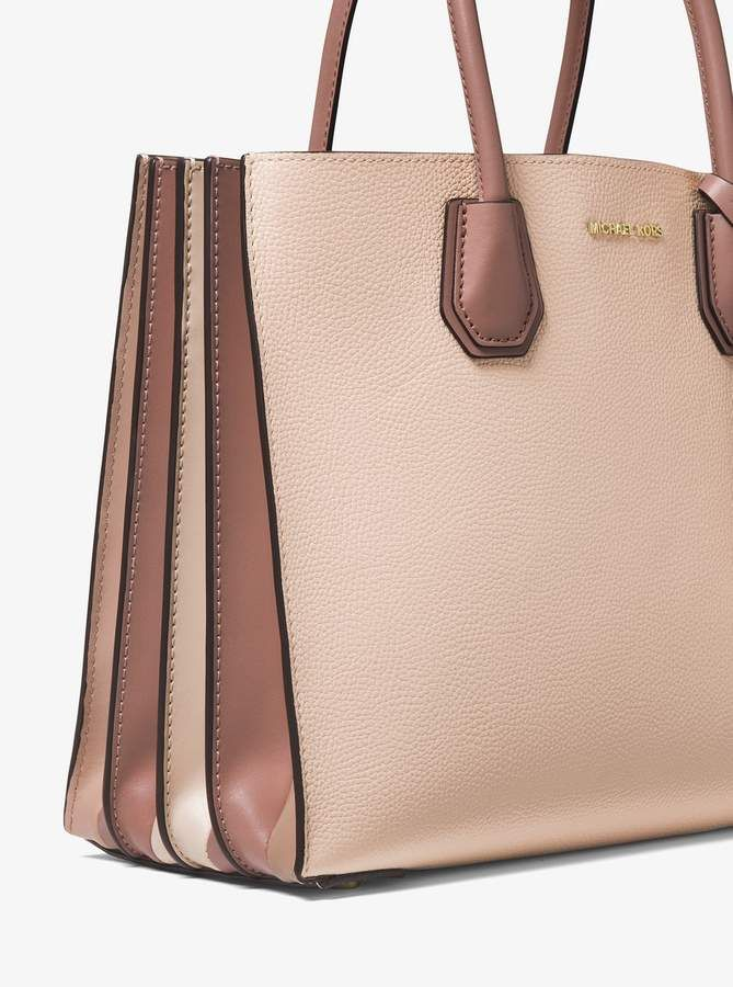 299b202e1ce923 MICHAEL Michael Kors Mercer Large Pebbled Leather Accordion Tote in ...
