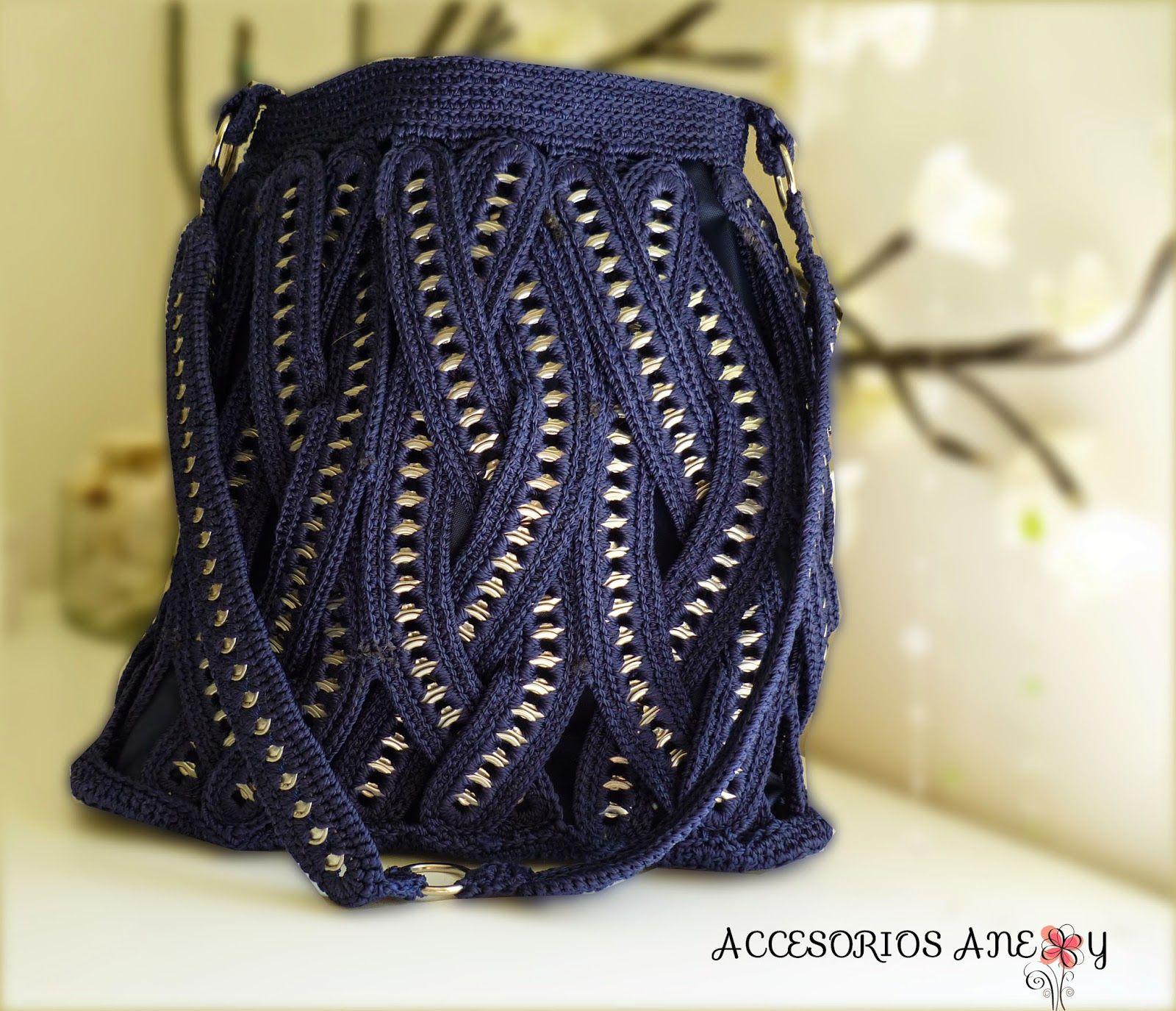 Bolsas modernas tejidas de arillos de lata - Bisutería y Accesorios ...