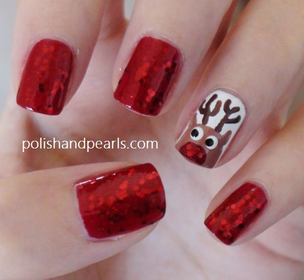 20 cutest christmas nail art diy ideas fabricartdiy have a look at the collection at cool reindeer nail art designs ideas trends stickers of prinsesfo Choice Image