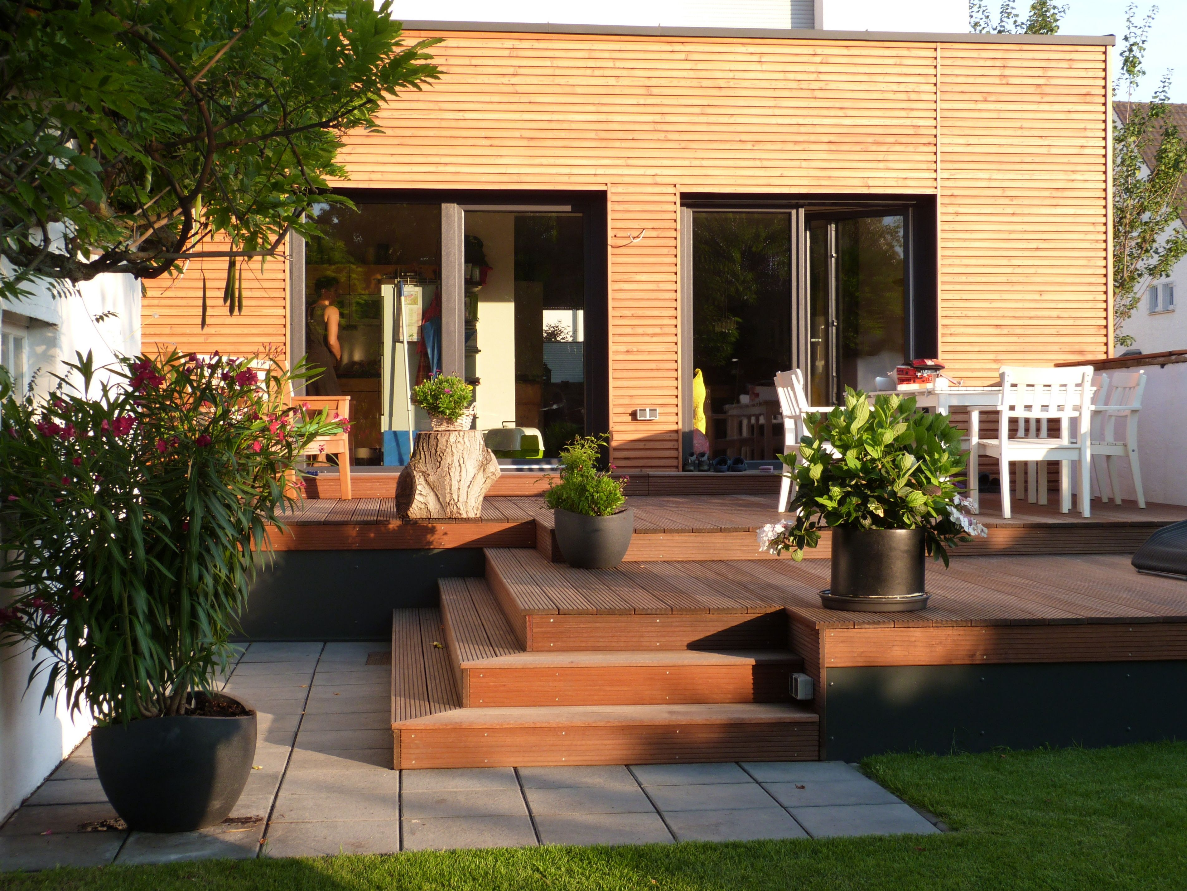 Wooden terrace & wooden facade cladding. This is my own ...