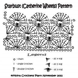 Crochet STARBUST (Catherine Wheels) Pouch Free Pattern