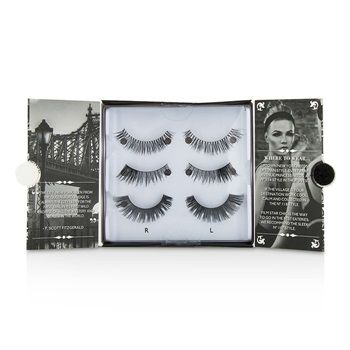 The New York Edit False Lashes Multipack:    1 pair # 114 (Cheryl - Lengthening)  1 pair # 118 (Kimberley - Lengthening)  1 pair # 107 (Volume)  Lengthening (No.114) is right for the sweet & subtle style of Uptown    Lengthening (No.118) is ideal for the hip atmosphere of the East Village  Volume (No.107) is welcome anywhere in this city of glamorous  film-star looks   Lash glue is included for easy application