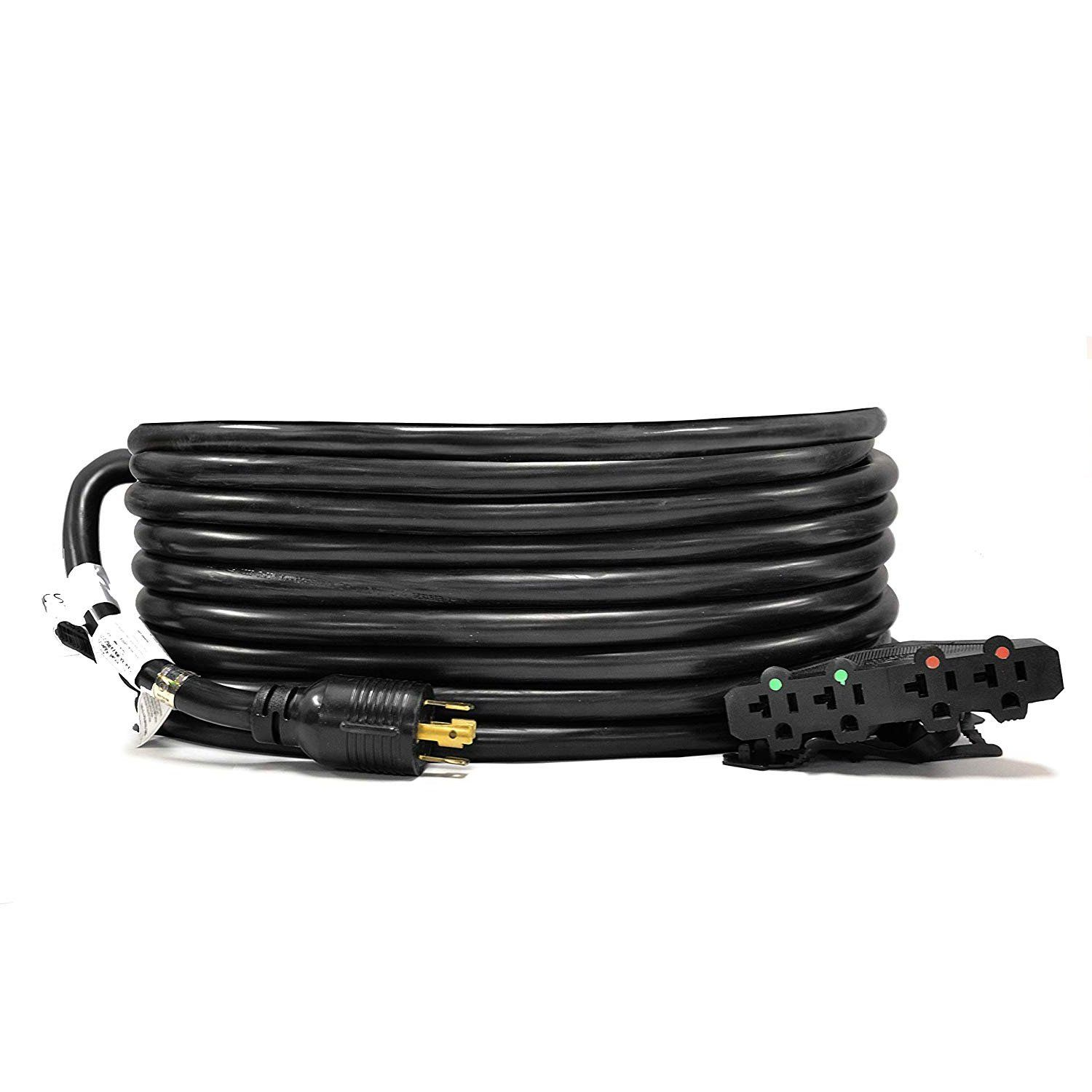 20 Ft 20 Amp Generator Distribution Power Cord L14 20 To 4x 5 15 20r Power Cord Generation Cord