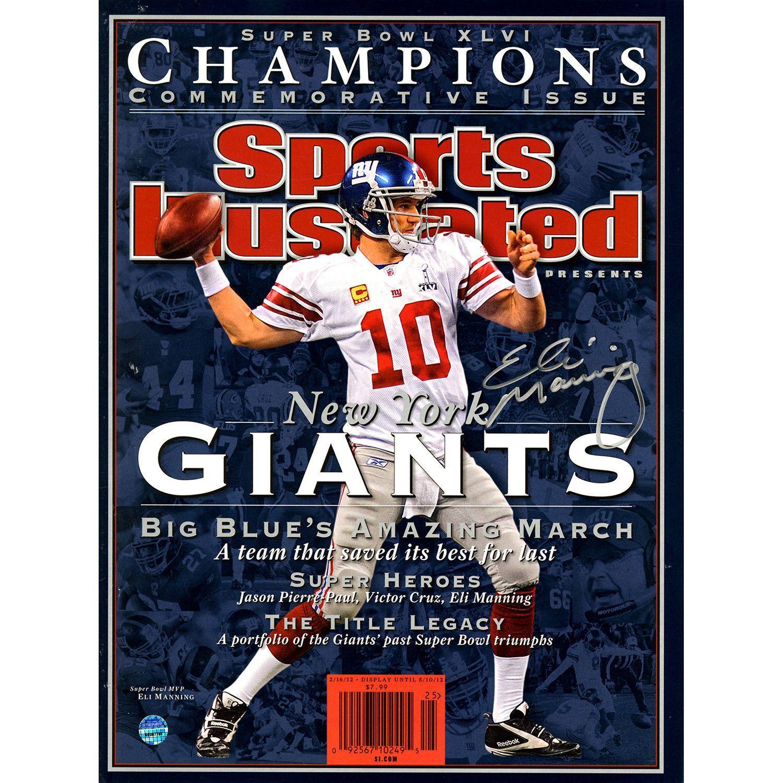 Eli Manning Signed Super Bowl XLVI Champions Commemorative