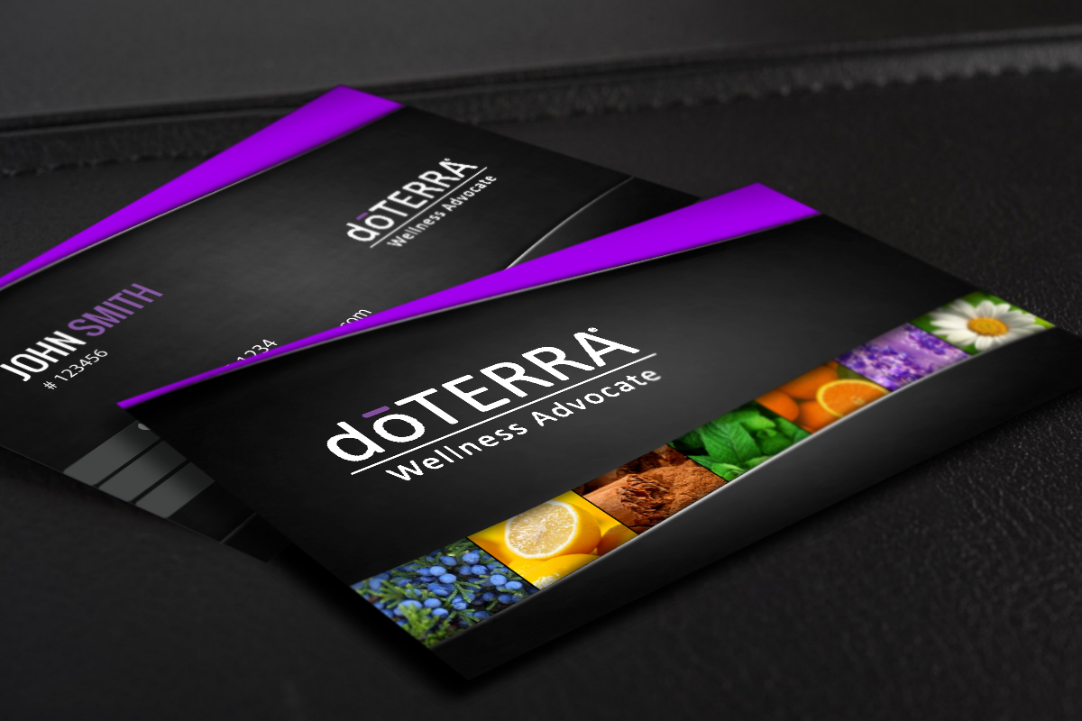 We Ve Got New Business Cards For Doterra Wellness Advocates Mlm Doterra Print Paper Graphicd Doterra Business Cards Doterra Business Free Business Cards