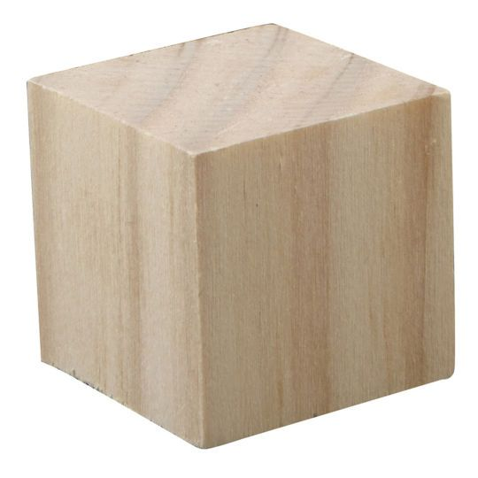 Square Wood Block By Artminds Wood Blocks Wood Crafts Wooden Craft Blocks
