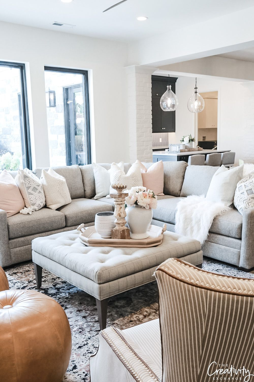 The Prettiest Living Room Coffee Tables Diy Darlin Ottoman In Living Room Ottoman Coffee Table Decor Pretty Living Room [ 1500 x 1000 Pixel ]