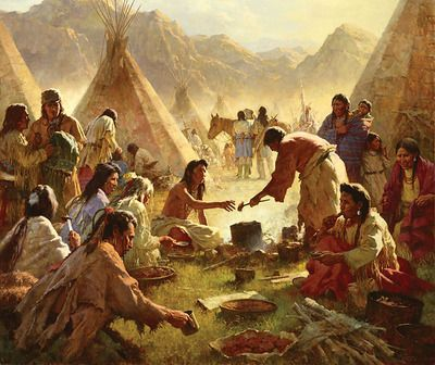 Howard terpning old country buffet the feast art for Art and appetite american painting culture and cuisine