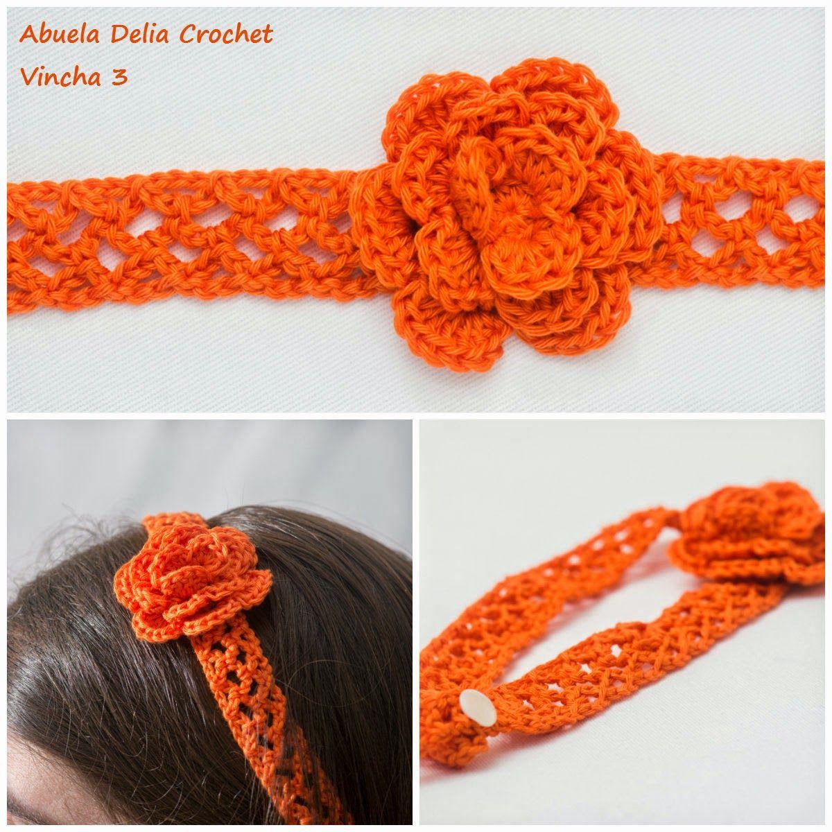 Vinchas para el cabello en Crochet | crochet | Pinterest | Croché ...