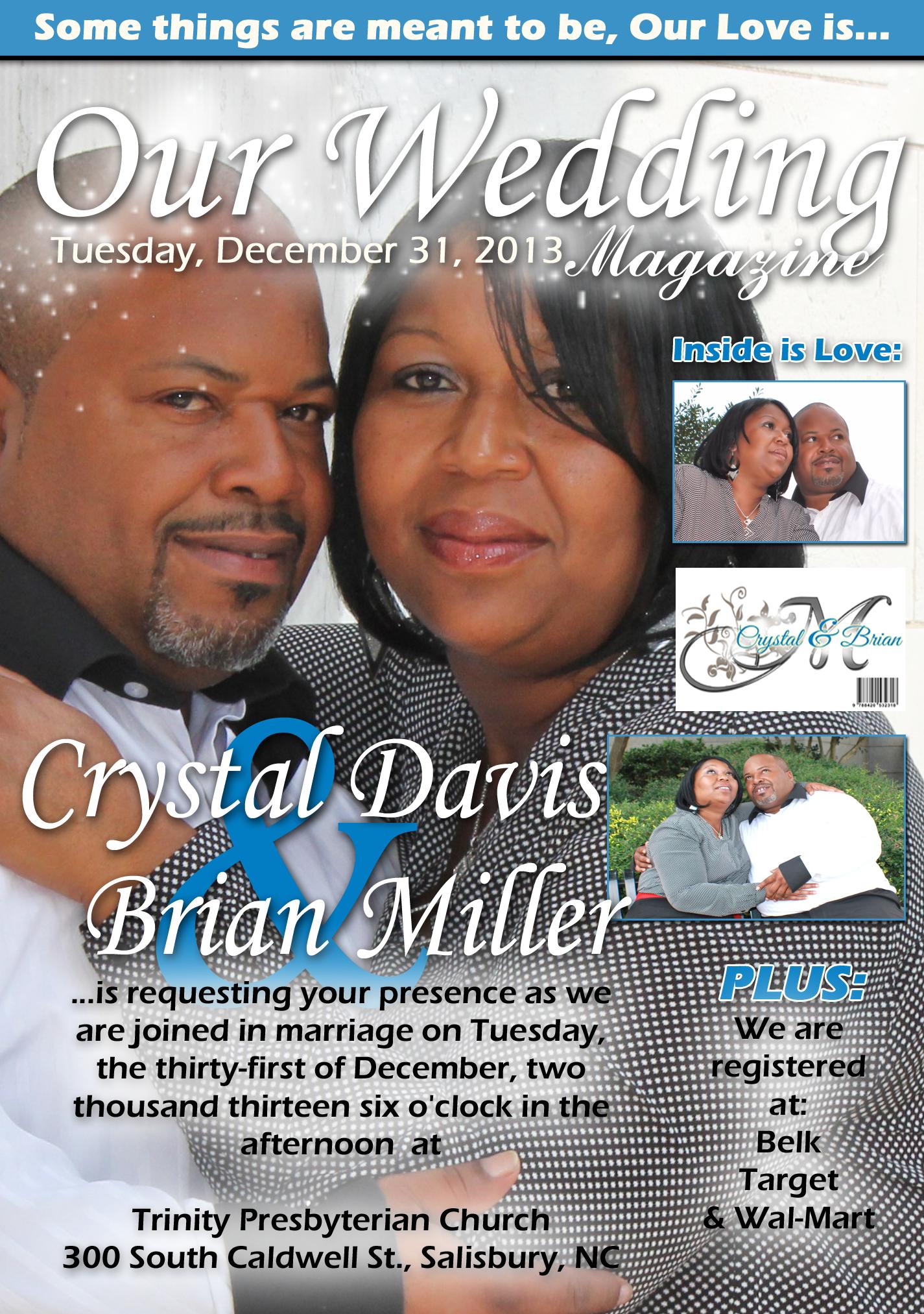 Wedding Invitation Magazine Cover Theme