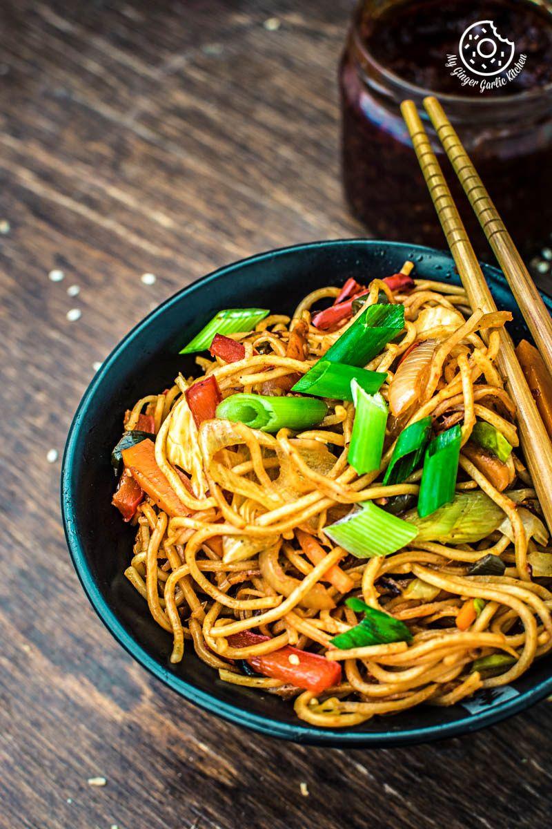 Veg Schezwan Noodles Recipe Video How To Make Veg Schezwan