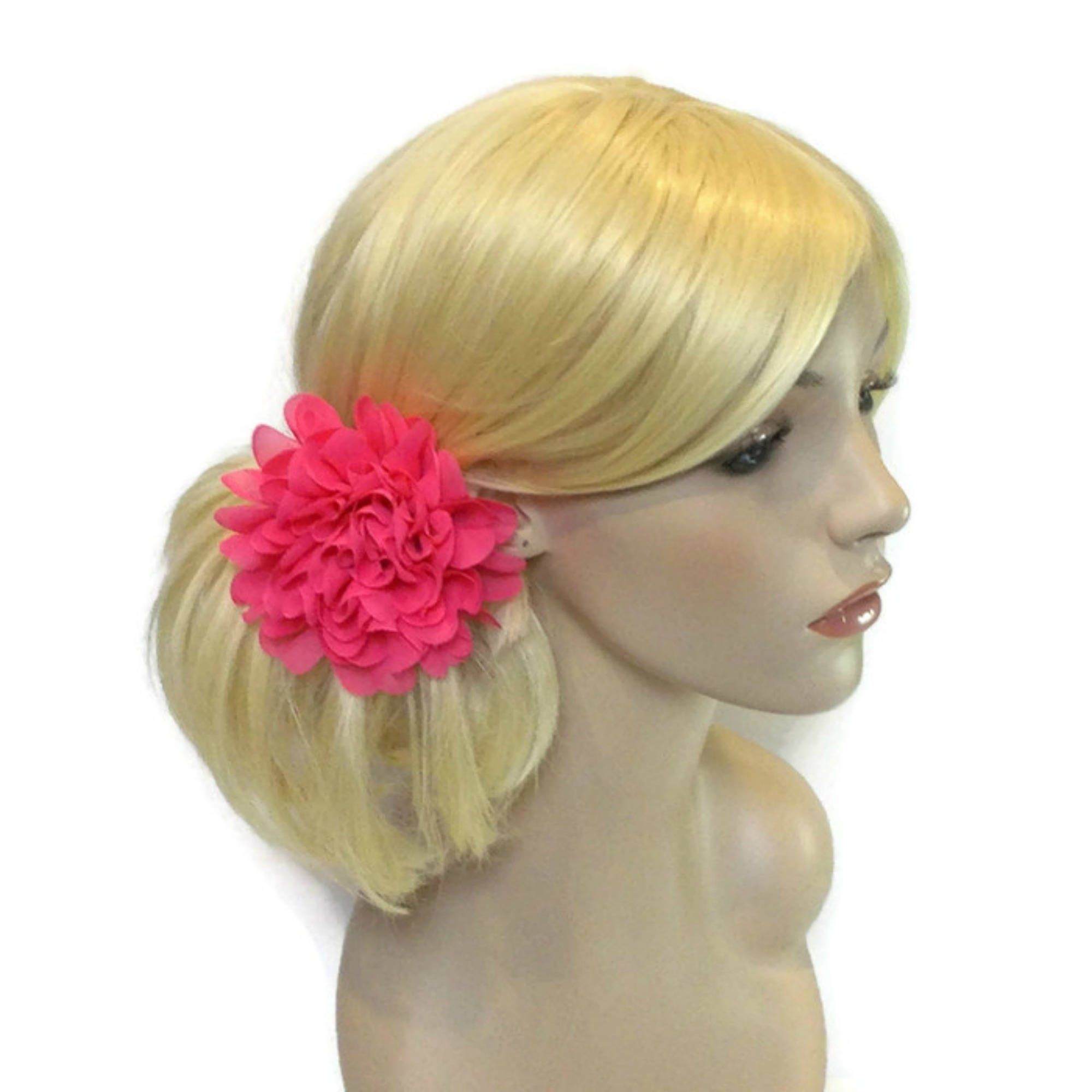 Pink Flower Hair Pin Floral Hair Pins Prom Hair Accessories For