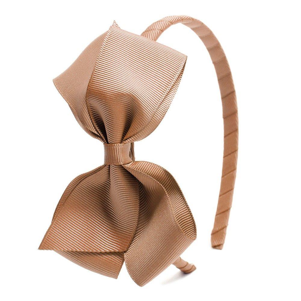 Big bow hairband - Camel