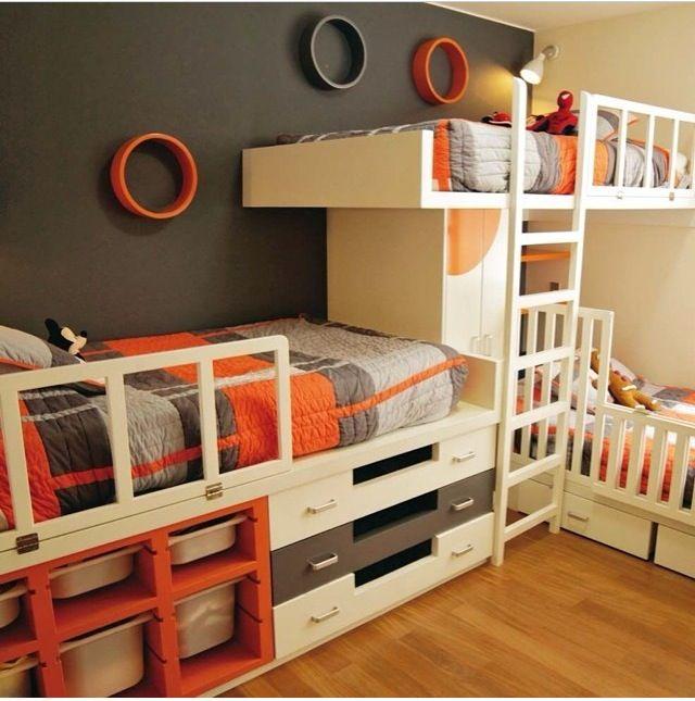 Gray And Orange Cool Rooms In 2018 Pinterest Bedroom Kids