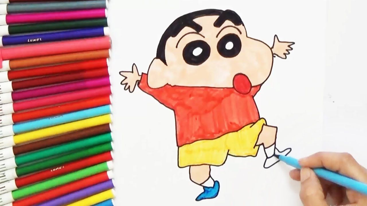 How To Draw Shin Chan D4k How To Draw Cartoon Characters In 2019