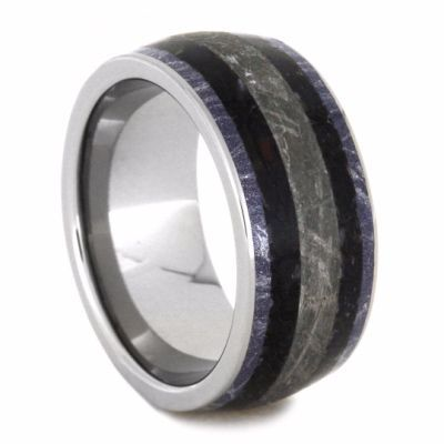 New Photographs Mens Wedding Band With Meteorite And Dinosaur Bone Fossil Ring2143 Popular WEDDING RINGS  THE KNOT STYLE BUCKLE Wedding bands nowadays no more just have a...