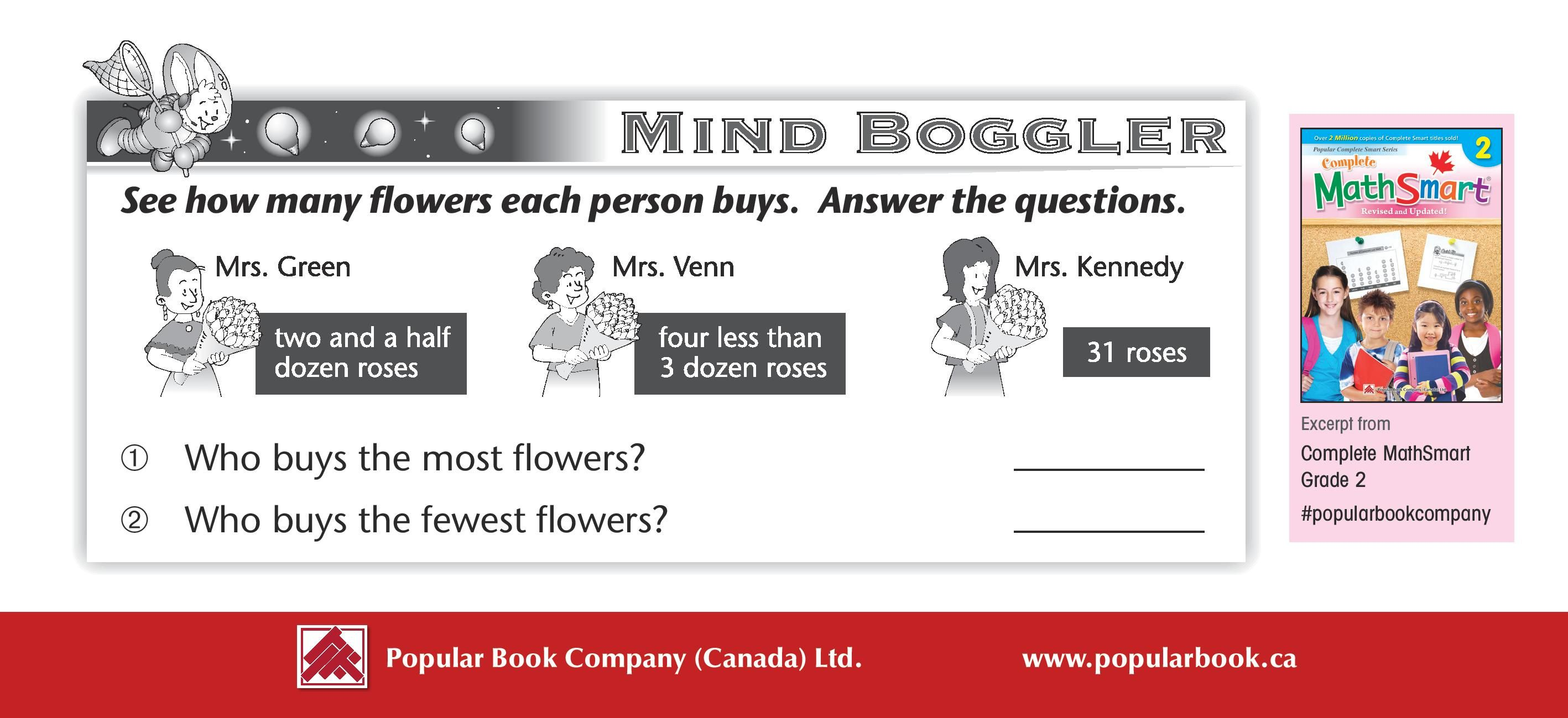 Mindboggler For Grades 1 To 3 Mrs Green Buys Two And A