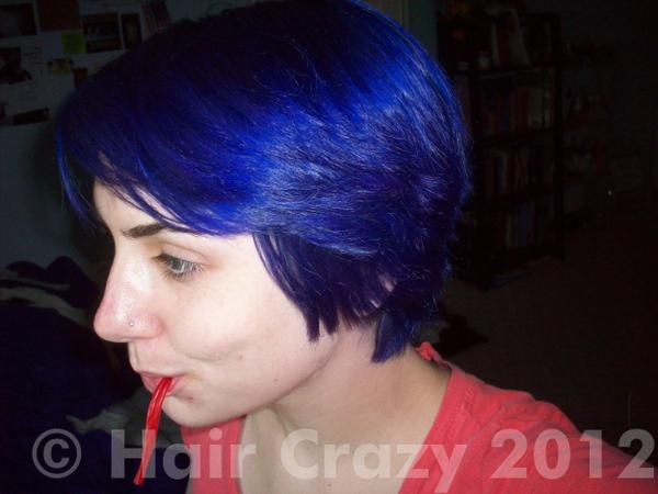 Manic Panic Shocking Blue Dark Hair Hair Crop Pictures