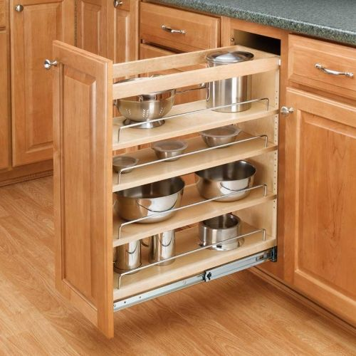 Rev A Shelf Pull Out Organizers 448 Base Cabinet Organizers Shelves Tural  Wood