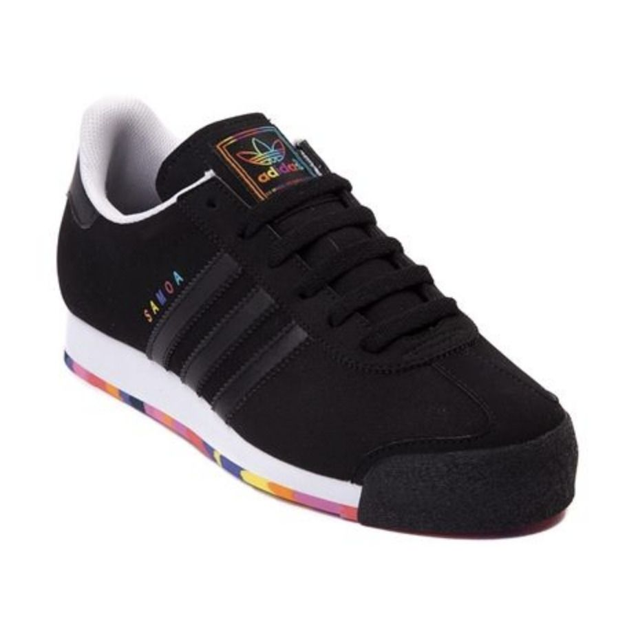 adidas Originals Samoa Black//Red Vintage Trainers 80/'s Training Shoes All Sizes