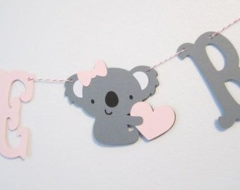 Koala Welcome Baby , Custom Colors , Koala Banner , Baby Shower Decoration or Photo Prop