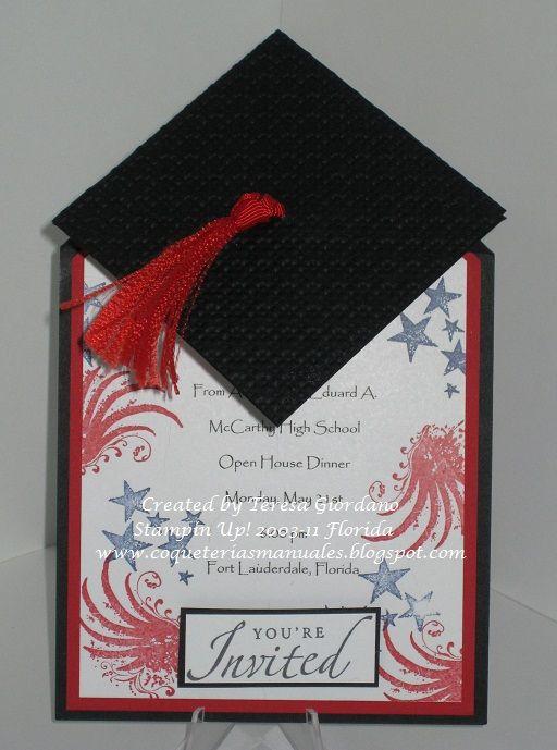 COQUETERIAS MANUALES INVITACION DE GRADUACION Graduation Cards