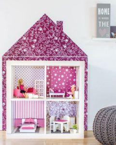 Spielzimmer selber bauen  Barbie Möbel selber bauen - Stylischen Sessel aus IKEA Bilderrahmen ...